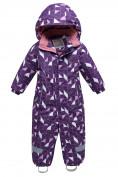 Оптом Комбинезон детский фиолетового цвета 8902F в  Красноярске
