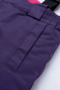Оптом Горнолыжный костюм для ребенка фиолетового цвета 8928F, фото 16