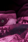 Оптом Комбинезон для девочки зимний малинового цвета 8907М в Екатеринбурге, фото 5