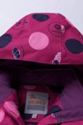 Оптом Горнолыжный костюм подростковый для девочки фиолетового цвета 8916F, фото 8