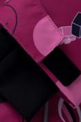 Оптом Горнолыжный костюм подростковый для девочки малинового цвета 8916M в Казани, фото 13