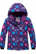 Оптом Горнолыжный костюм подростковый для девочки фиолетового цвета 8916F, фото 2