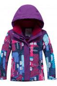 Оптом Горнолыжный костюм для ребенка фиолетового цвета 8926F в Екатеринбурге, фото 2