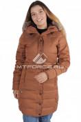 Интернет магазин MTFORCE.ru предлагает купить оптом куртка зимняя женская коричневого цвета F01K по выгодной и доступной цене с доставкой по всей России и СНГ