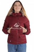 Интернет магазин MTFORCE.ru предлагает купить оптом куртка зимняя женская бордового цвета F04Bo по выгодной и доступной цене с доставкой по всей России и СНГ