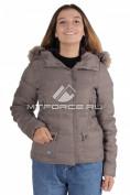 Интернет магазин MTFORCE.ru предлагает купить оптом куртка зимняя женская серого цвета F04Sr по выгодной и доступной цене с доставкой по всей России и СНГ