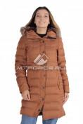 Интернет магазин MTFORCE.ru предлагает купить оптом куртка зимняя женская коричневого цвета F05K по выгодной и доступной цене с доставкой по всей России и СНГ