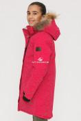 Оптом Куртка парка зимняя подростковая для девочки розового цвета G27R в Казани, фото 2