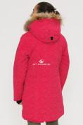 Оптом Куртка парка зимняя подростковая для девочки розового цвета G27R в Казани, фото 4