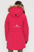 Оптом Куртка парка зимняя подростковая для девочки розового цвета G27R в Казани, фото 5