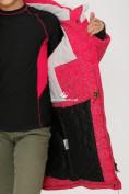 Оптом Куртка парка зимняя подростковая для девочки розового цвета G27R в Казани, фото 7