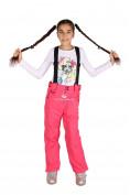 Оптом Брюки горнолыжные подростковые для девочки розового цвета 816R