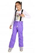 Оптом Брюки горнолыжные подростковые для девочки фиолетового цвета 816F