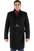 Оптом Пальто мужское черного цвета M-23Ch в Екатеринбурге, фото 2