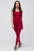 Оптом Спортивный костюм для фитнеса женский бордового цвета 21106Bo, фото 3