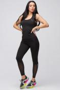 Оптом Спортивный костюм для фитнеса женский черного цвета 21106Ch, фото 5