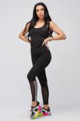 Оптом Спортивный костюм для фитнеса женский черного цвета 21106Ch, фото 7