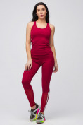 Оптом Спортивный костюм для фитнеса женский бордового цвета 21106Bo, фото 4