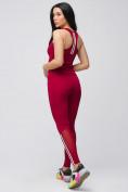 Оптом Спортивный костюм для фитнеса женский бордового цвета 21106Bo, фото 8
