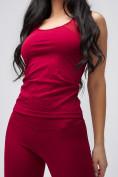 Оптом Спортивный костюм для фитнеса женский бордового цвета 21106Bo, фото 6