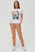 Оптом Женские футболки с принтом белого цвета 1601Bl в Екатеринбурге, фото 2