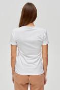Оптом Женские футболки с принтом белого цвета 1601Bl в Екатеринбурге, фото 5