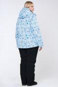 Оптом Куртка горнолыжная женская большого размера синего цвета 1830-1S, фото 11