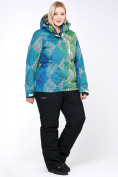 Оптом Костюм горнолыжный женский большого размера салатового цвета 01830-2Sl в  Красноярске, фото 7