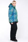 Оптом Костюм горнолыжный женский большого размера салатового цвета 01830-2Sl в  Красноярске, фото 9