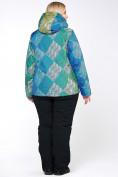 Оптом Костюм горнолыжный женский большого размера салатового цвета 01830-2Sl в  Красноярске, фото 8