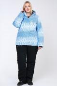 Оптом Костюм горнолыжный женский большого размера голубого цвета 01830Gl в  Красноярске, фото 8