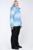 Оптом Костюм горнолыжный женский большого размера голубого цвета 01830Gl в  Красноярске, фото 10