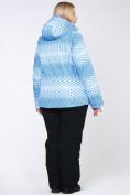 Оптом Костюм горнолыжный женский большого размера голубого цвета 01830Gl в  Красноярске, фото 12