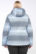 Оптом Костюм горнолыжный женский большого размера серого цвета 01830Sr в  Красноярске, фото 10
