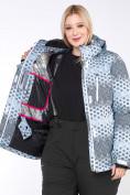 Оптом Костюм горнолыжный женский большого размера серого цвета 01830Sr в  Красноярске, фото 14